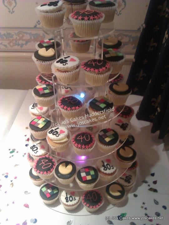 Fab+Funky+40th+Birthday+Cupcakes+80s+Style 21st birthday cakes huddersfield 4 on 21st birthday cakes huddersfield