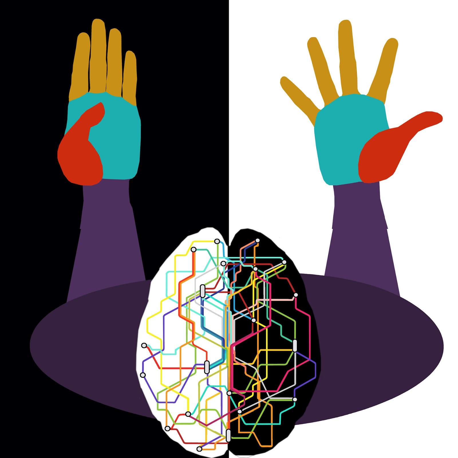 conexiones cerebrales, dibujo