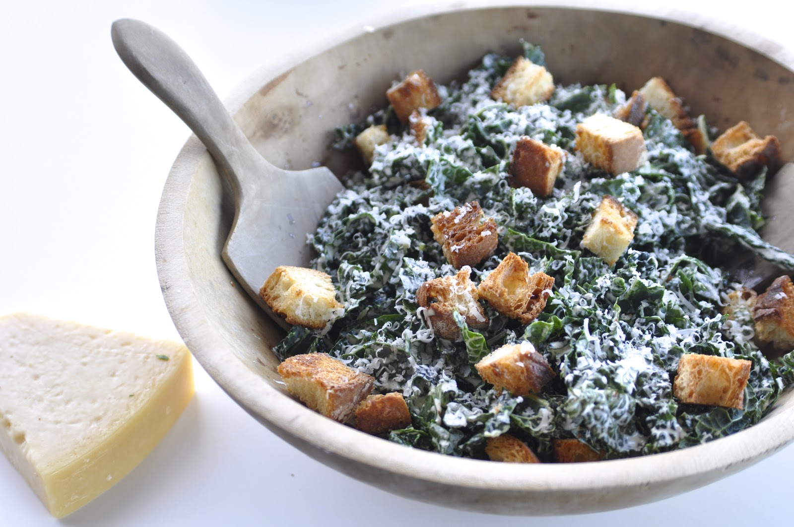 Two Blue Lemons: Kale Caesar Salad