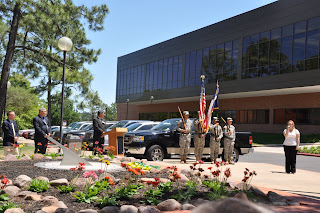 The 2011 Sundial ceremony featuring the Army ROTC and presentation of roses.