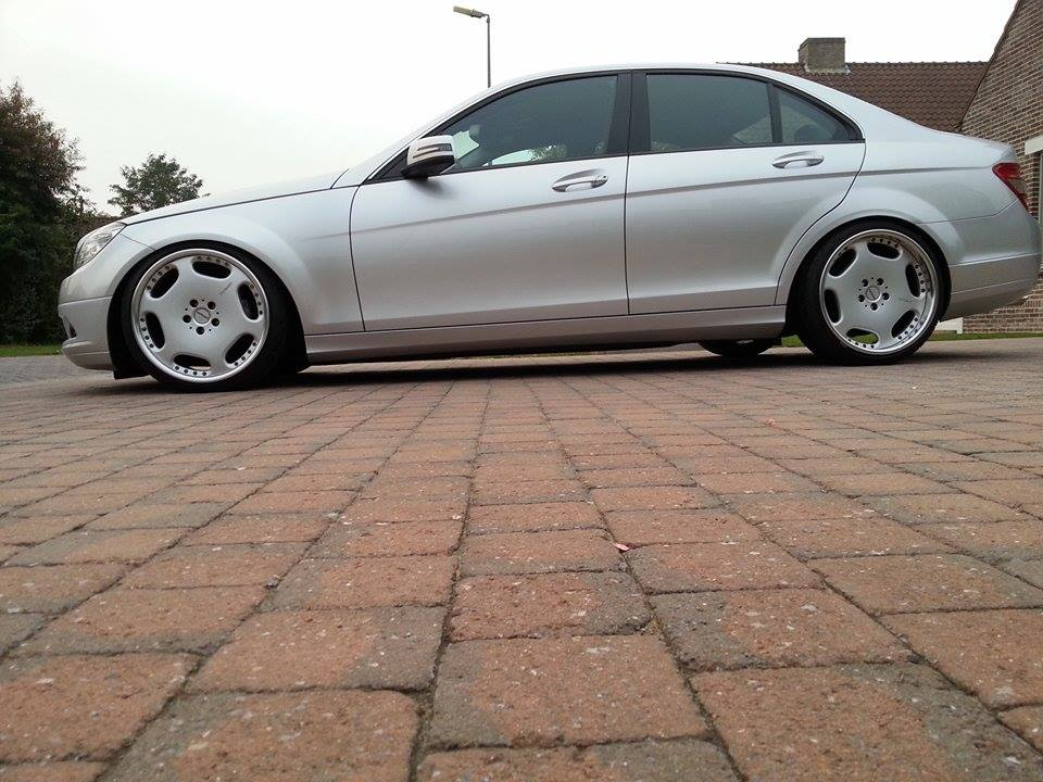 Mercedes benz c class w204 on carlsson wheels benztuning for Mercedes benz wheels rims