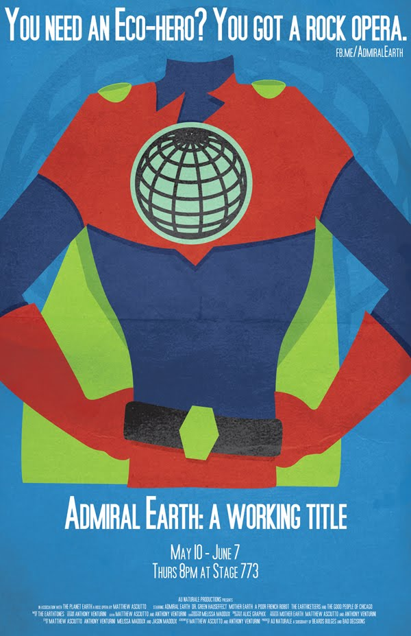 Admiral Earth Theater Poster PlayBill 2012 Print Design Catalog Alice Graphix AliceGraphix