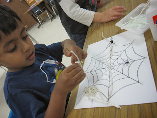 Preschool spider craft