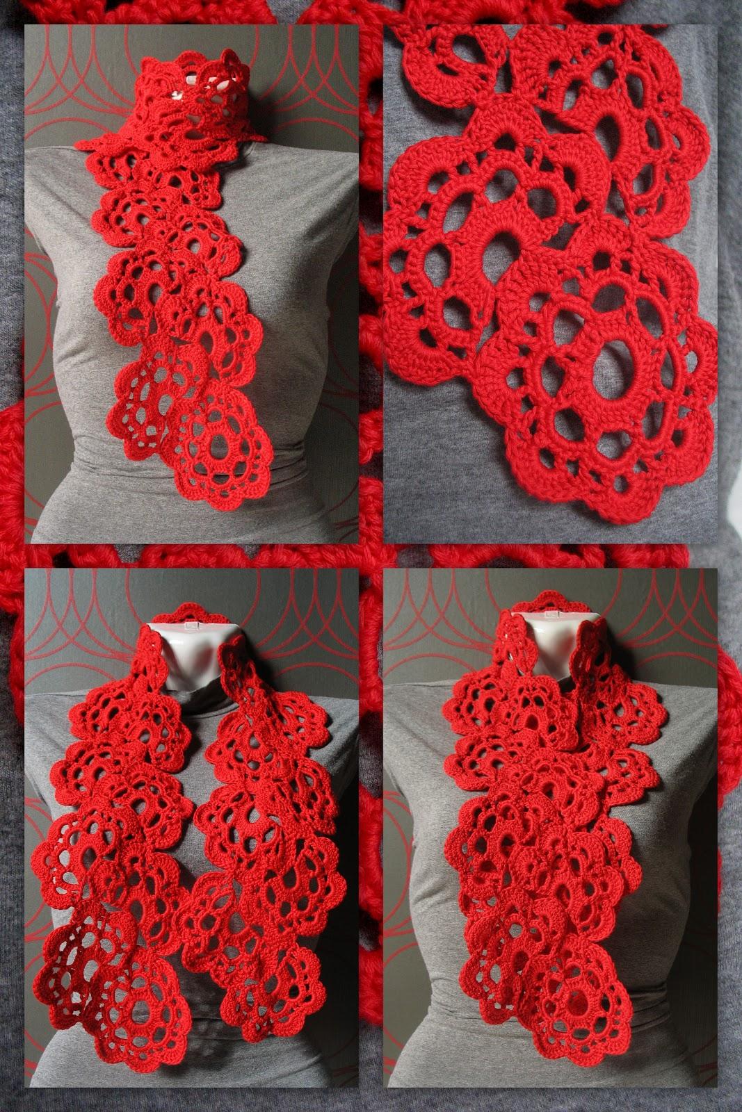 Вязаный шарф крючком схемы вязания с описанием