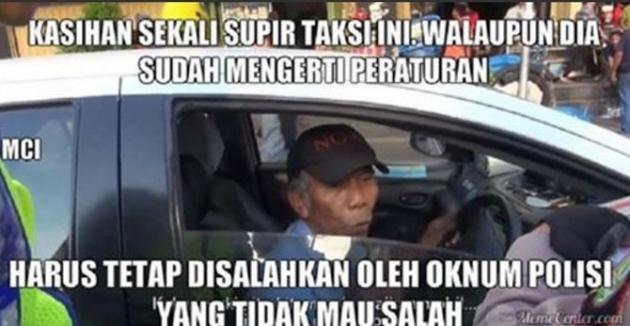Meme Polisi Aziz Tilang Sopir Taxi