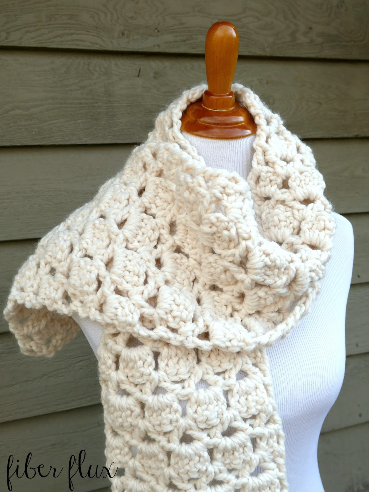 ... and extra cozy crocheted in a pretty stitch with super bulky yarn the