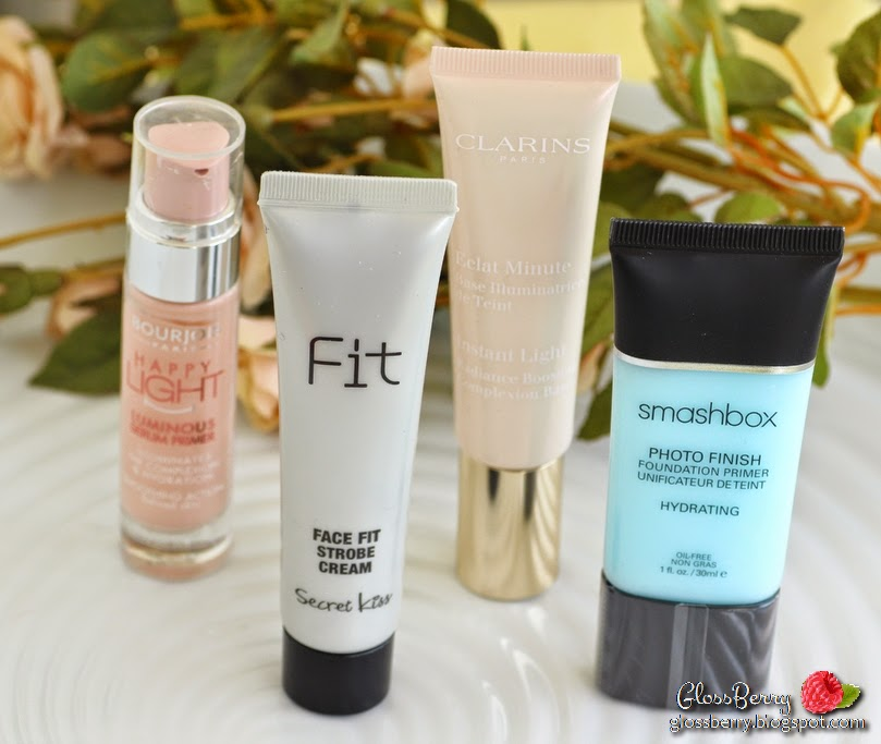smashbox photo finish foundation primer hydrating face fit strobe cream bourjois happy light luminous serum primer clarins instant light radiance boosting primer base review swatches פריימר בסיס לאיפור סמאשבוקס קלרינס בורז'ואה עור יבש