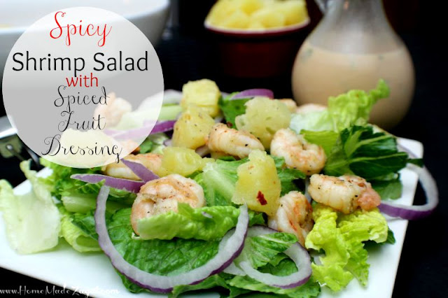 Spicy Shrimp Salad with Fruit Dressing