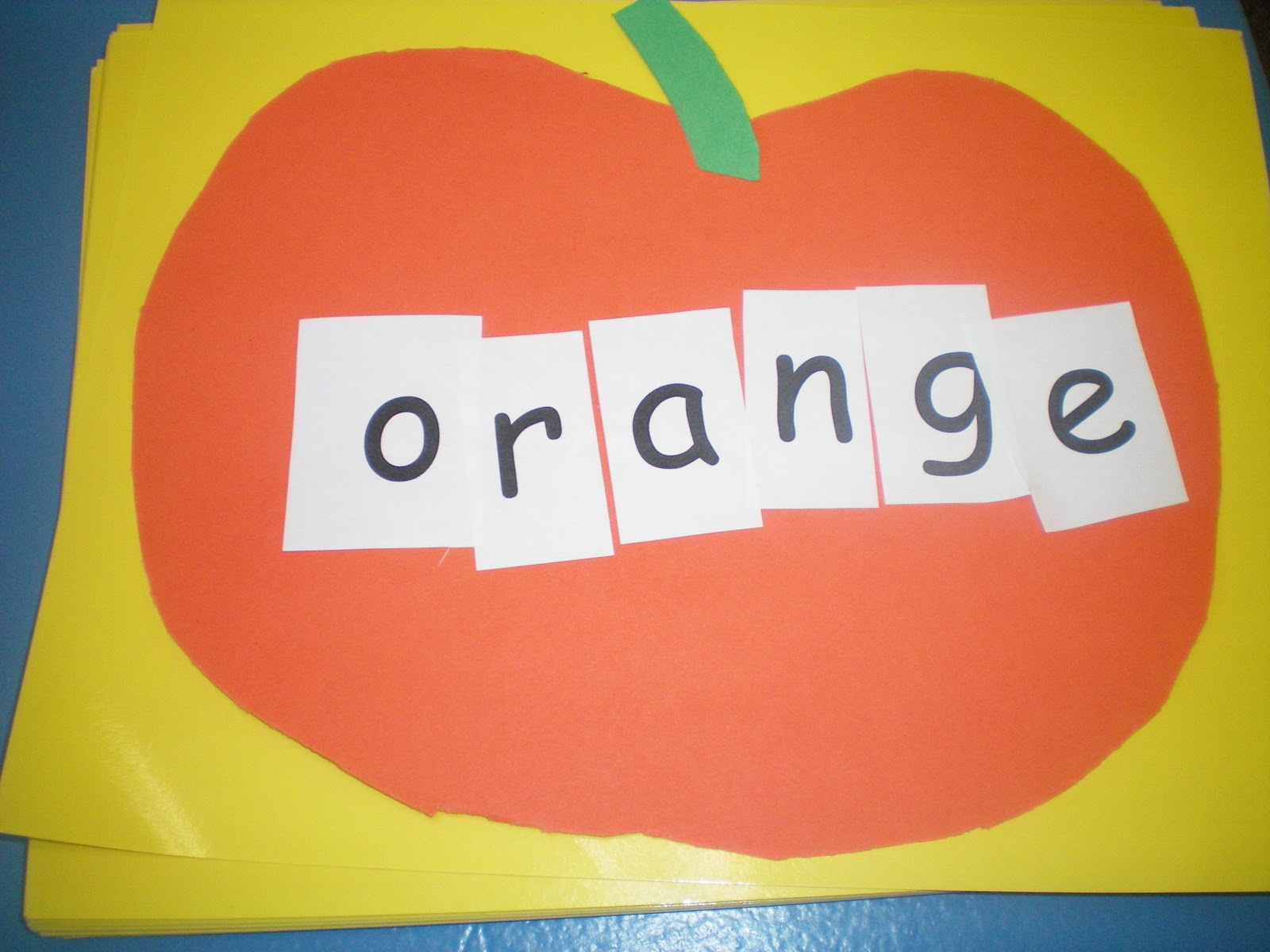 First grade is a treat first week of stations color for Orange colour things