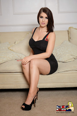 Kristie Patterson Sexy Little Black Dress On the Couch