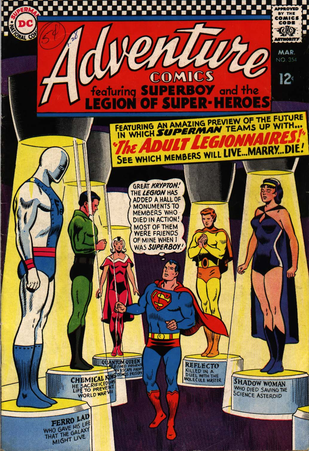 Adventure Comics # 354, March, 1967