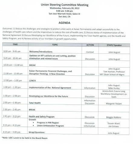 agenda for tomorrow meeting We have a meeting tomorrow afternoon or we will have a meeting tomorrow afternoon puzzled by that.