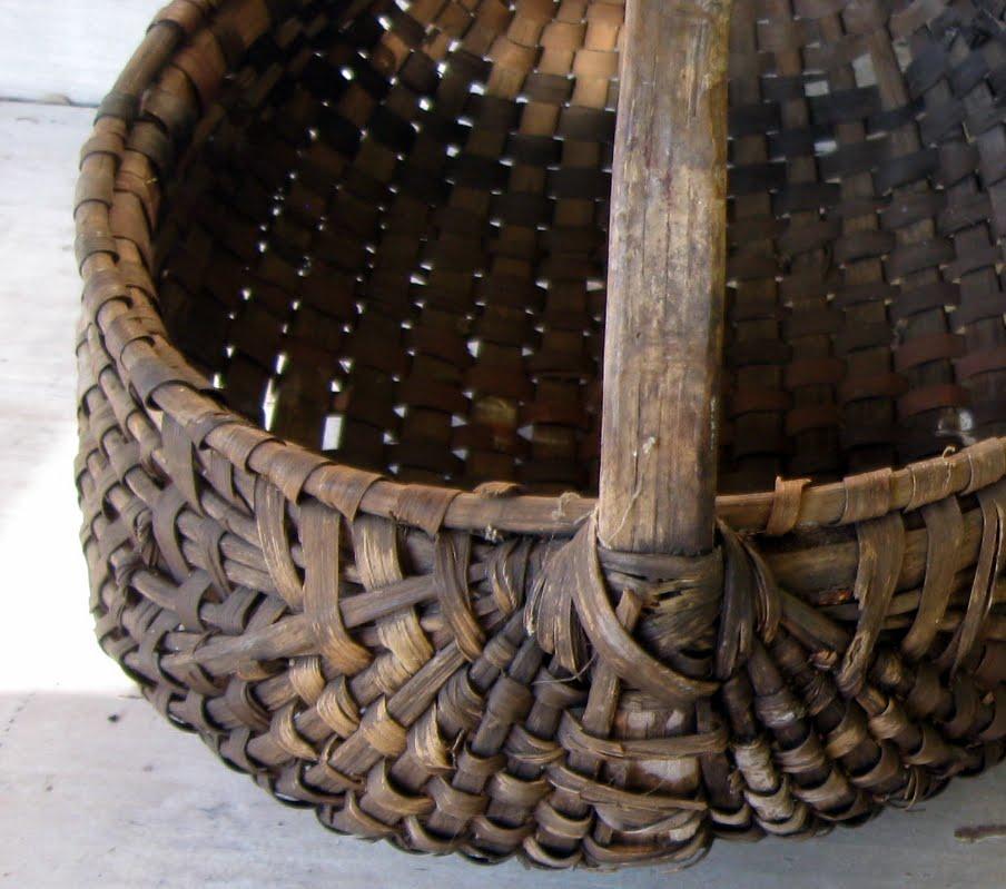 Old Handmade Baskets : Folkways notebook appalachia old handmade rib baskets