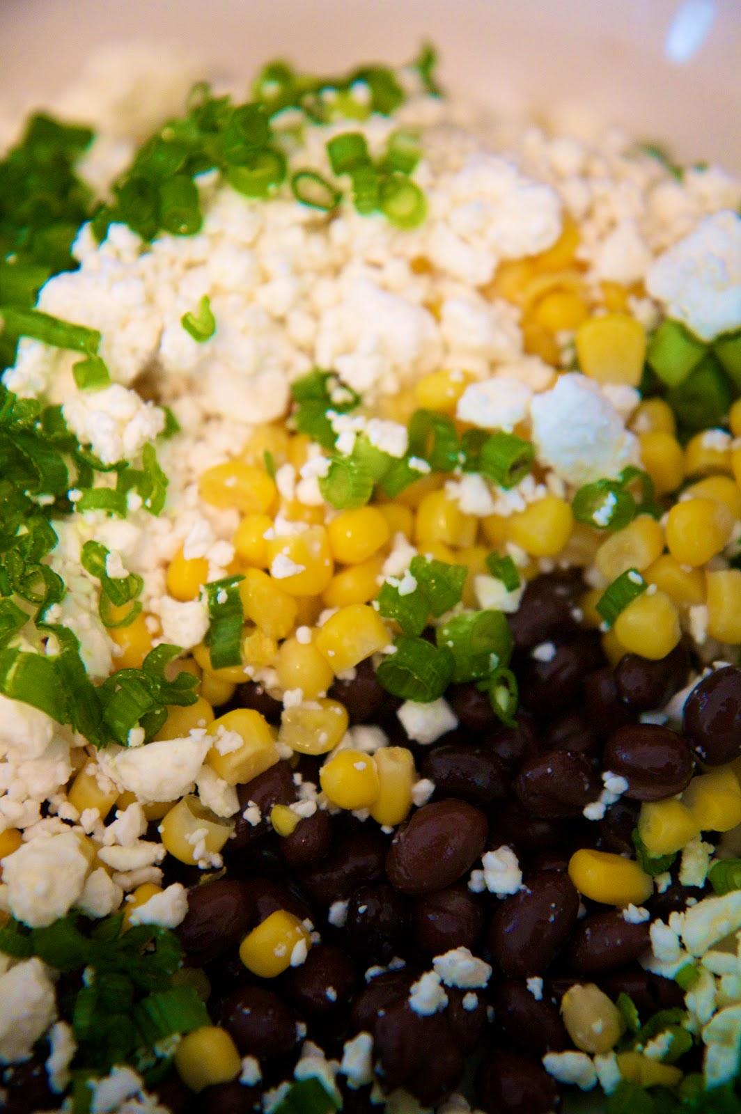 Food Love: Black Bean, Corn & Feta Salsa