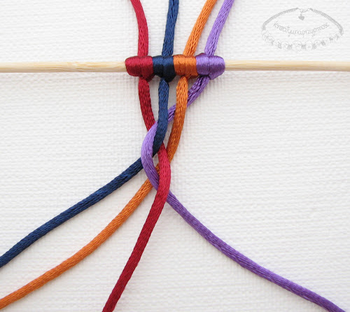 warkocz z czterech sznurków 6