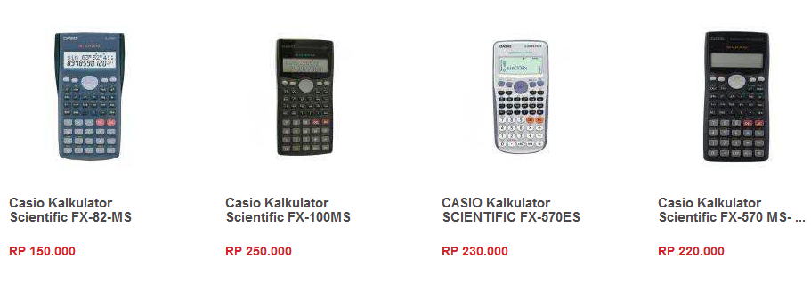 Harga Kalkulator Casio Scientific