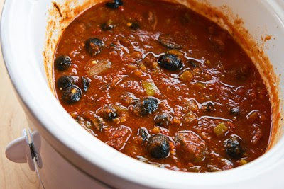 Slow Cooker Southwestern Beef Stew with Tomatoes, Olives, and Chiles found on KalynsKitchen.com