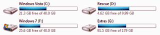 partitiile din Windows si literele asociate acestora.