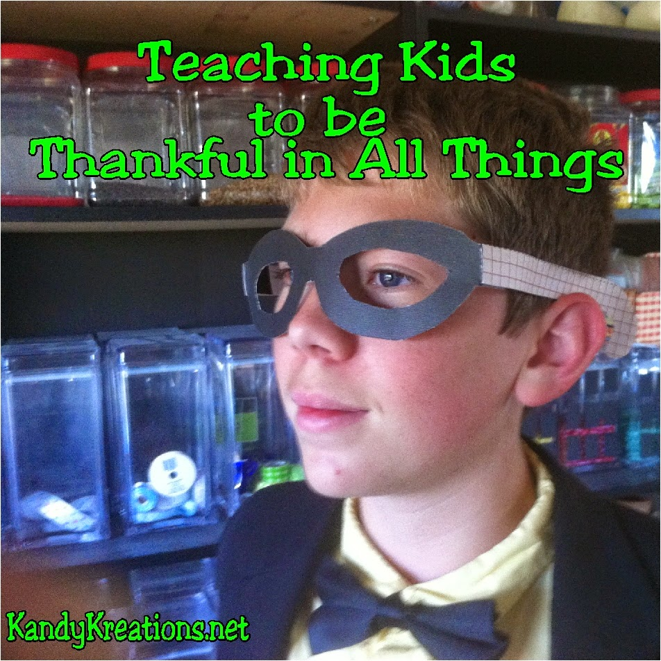 Teach kids to give thanks in all things