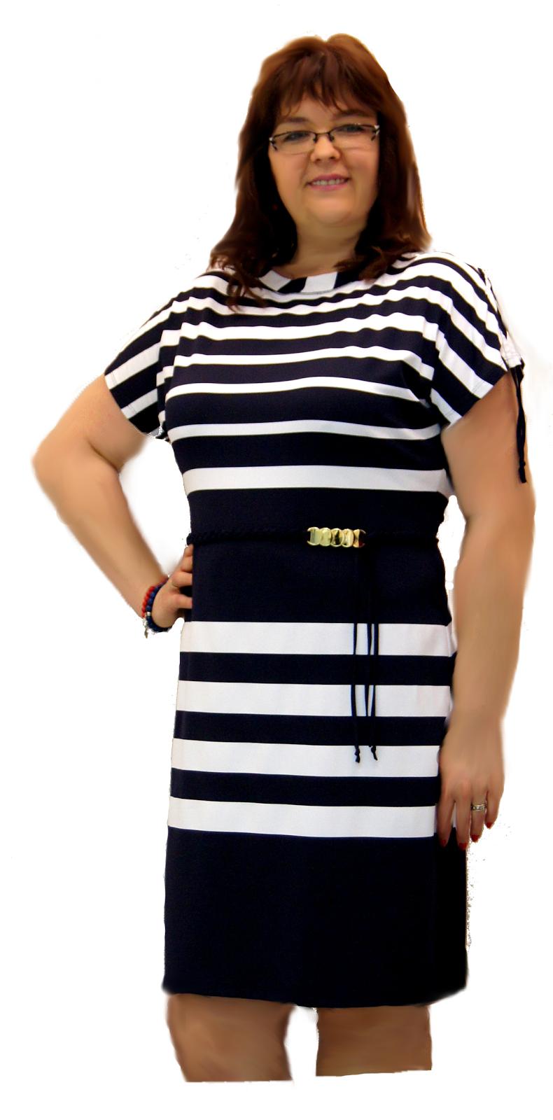 9b2bcdbe63 Moda dla puszystych  Wyszczuplająca sukienka dla puszystych pań w ...