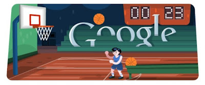 Google's basketball Doodle for Olympics 2012