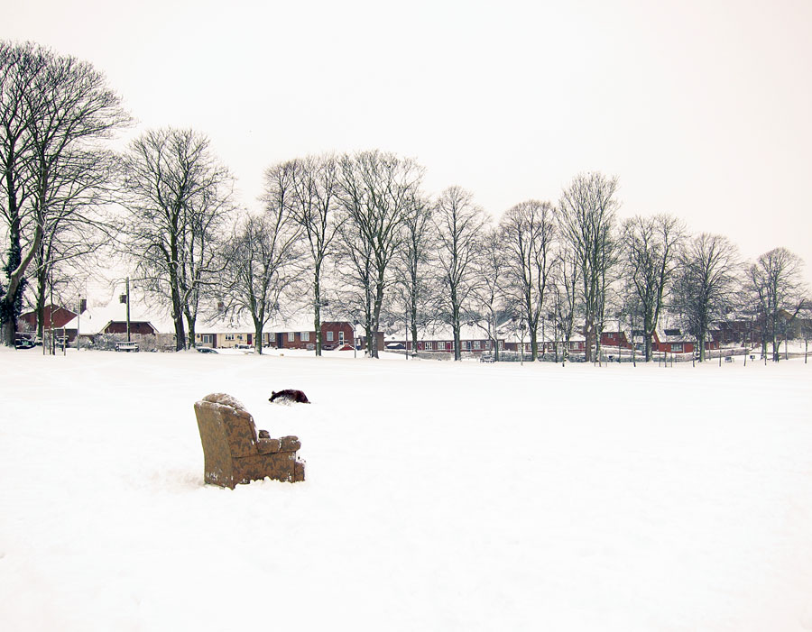 Chair in Snow - Photograph by Tim Irving