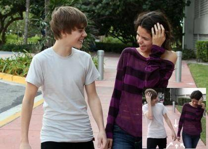 is selena gomez with justin bieber. selena gomez and justin bieber
