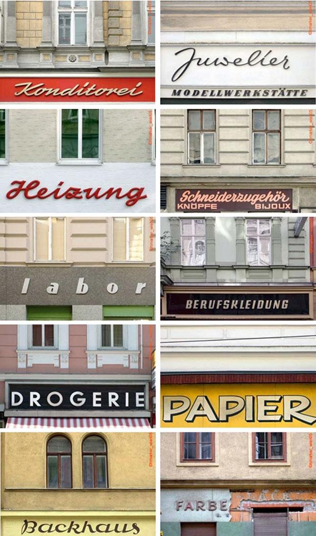 Fotografias,fachadas,Viena,Herbe Marker,Viennese,storefronts,tiendas,carteles,Typograhic