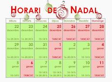 HORARI ESPECIAL DE NADAL