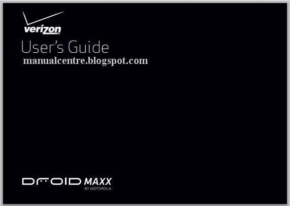 Motorola Droid Maxx Manual Cover
