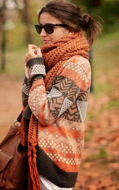 Gorgeous Long Sweater and Suitable Amazing Scarf with Handbag