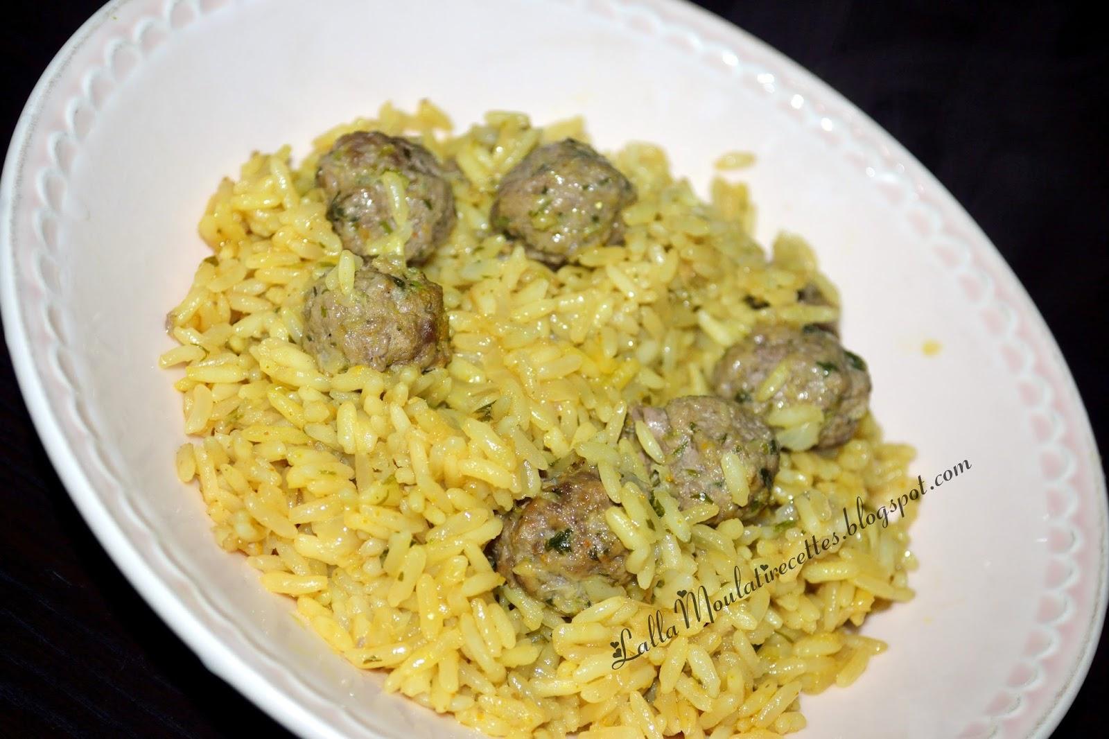 Riz cantonnais à la viande hachée