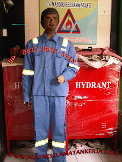 COVERALL FIRE RETARDANT BAHAN COTTON