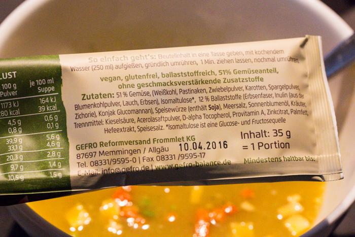 Für die schnelle Mahlzeit zwischendurch: die Suppenpause im Portionsbeutel ist in einer Minute angerührt