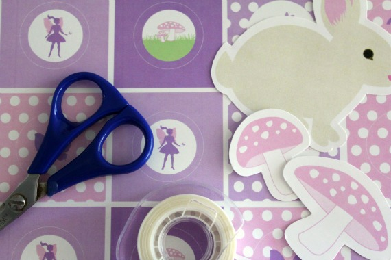 purple & pink fairy party printables