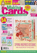 CURRENTLY PUBLISHED ON THE COVER OF THE APRIL ISSUE OF MAKING CARDS MAGAZINE
