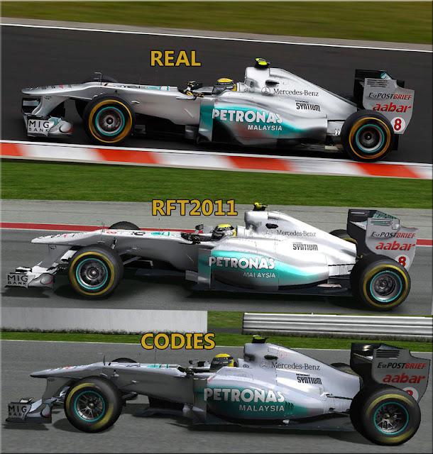 Comparacion rFactor F1 RFT 2011