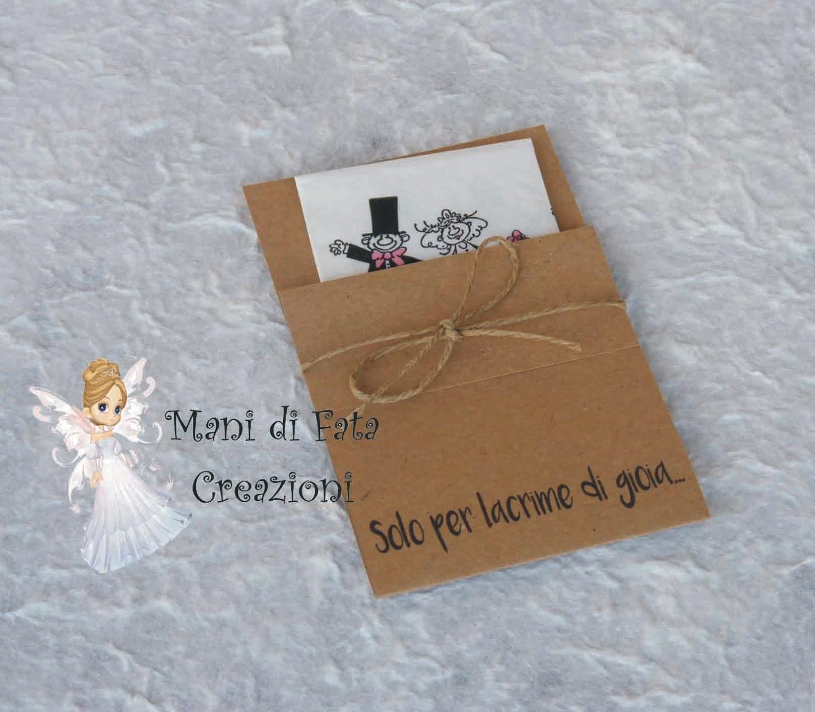 Super Mani di Fata Creazioni: Porta fazzoletti matrimonio KA28
