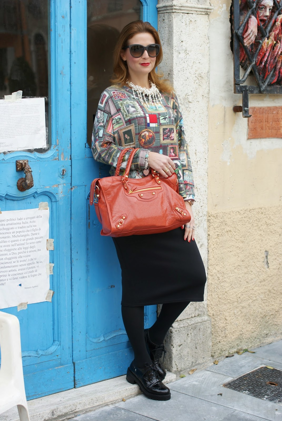 Asos midi pencil skirt, Balenciaga City bag, Fashion and Cookies, fashion blogger