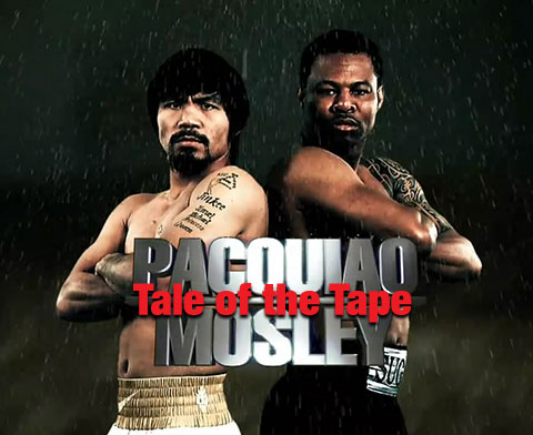 Manny Pacquiao vs Shane Mosley Tale of the Tape