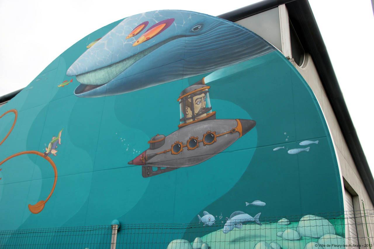 interesni kazki x kislow new mural in fleury les aubrais france streetartnews streetartnews. Black Bedroom Furniture Sets. Home Design Ideas