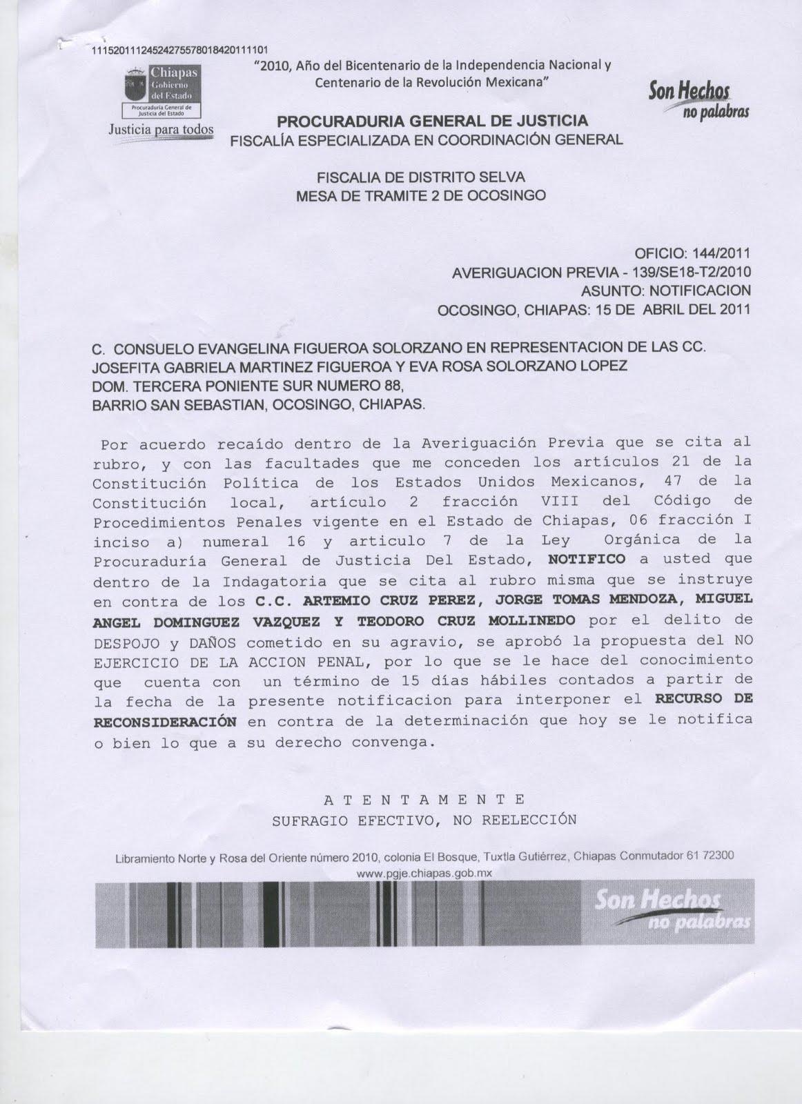 Violentan derechos de 3 mujeres chiapanecas en ocosingo for Donde queda el ministerio de interior y justicia