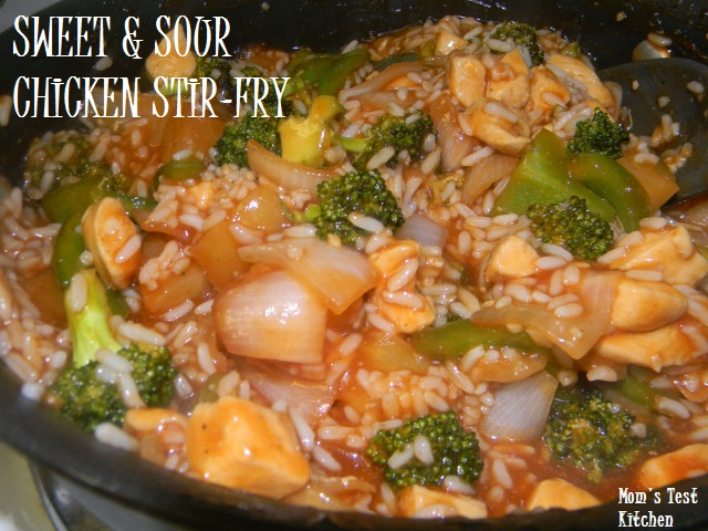 Sweet & Sour Chicken Stir-Fry Recipe