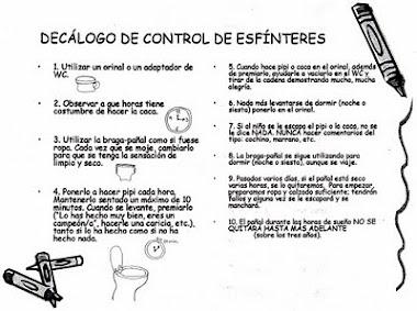 DECÁLOGO DEL CONTROL DE ESFÍNTERES