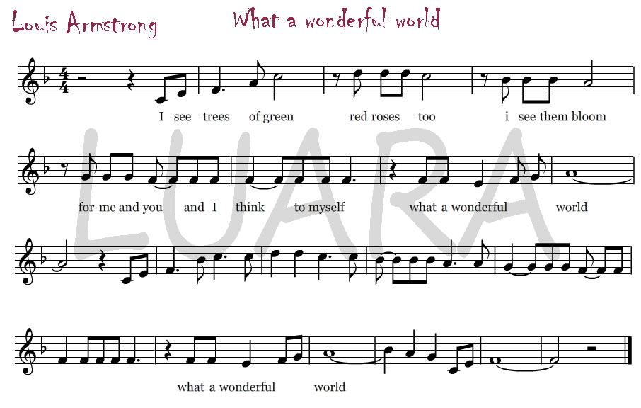 letra de what a wonderfull word: