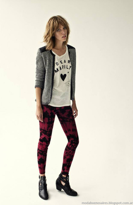 Inedita invierno 2014moda pantalones y leggings