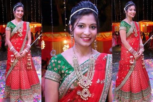 Banarasi Half Saree for Engagement