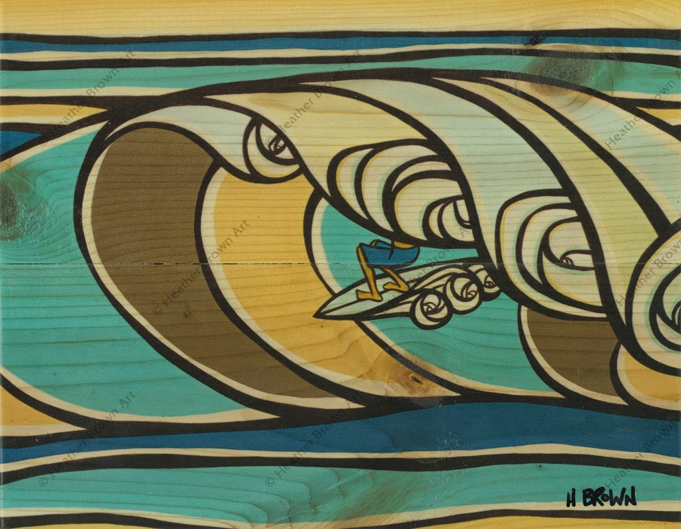 surfing art