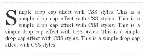 Simple CSS Drop Cap