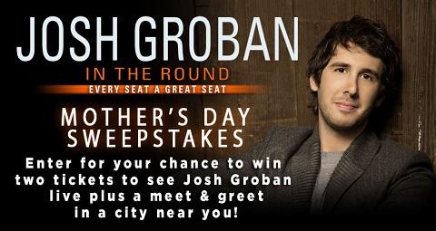 Josh Groban sweepstakes